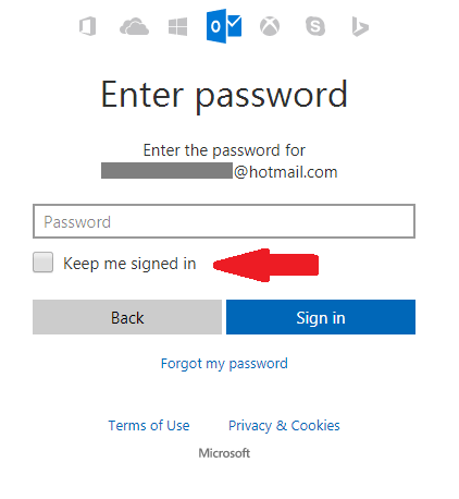 Hotmail account sign in 3
