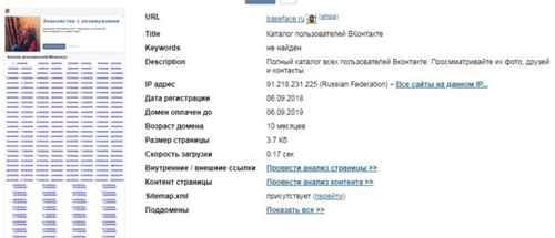 Анализ сайта Baseface.ru