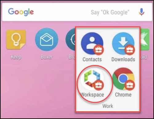 Приложение для рабочего пространства Android-устройств
