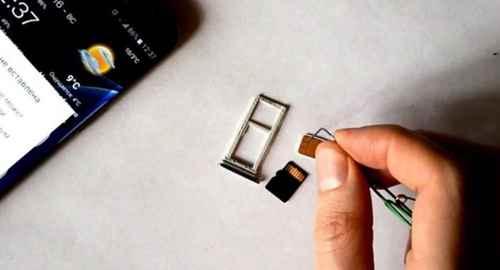 Переустановить SIM-карту
