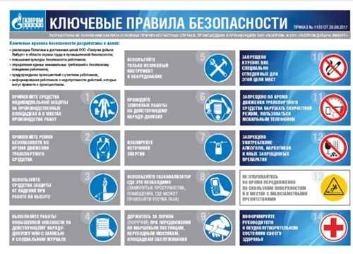 Основные правила безопасности ОАО