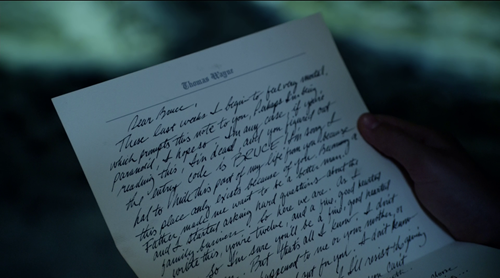 Письмо от Томаса Уэйна